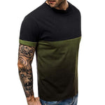 Casual Colorblock Short Sleeve T Shirt