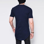 Curved Mid Long Short Sleeve Tee