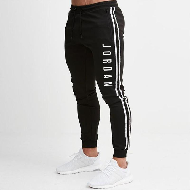Sports Side Stripe Letter Printed Sweat Pants