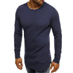 Casual Solid Long Sleeve T Shirt