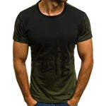 Casual Gradient Short Sleeve T Shirt