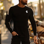 Logo Shoulder Colorblock Long Sleeve T Shirt