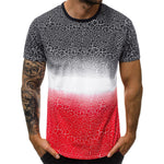 Gradient Colorblock Short Sleeve T Shirt