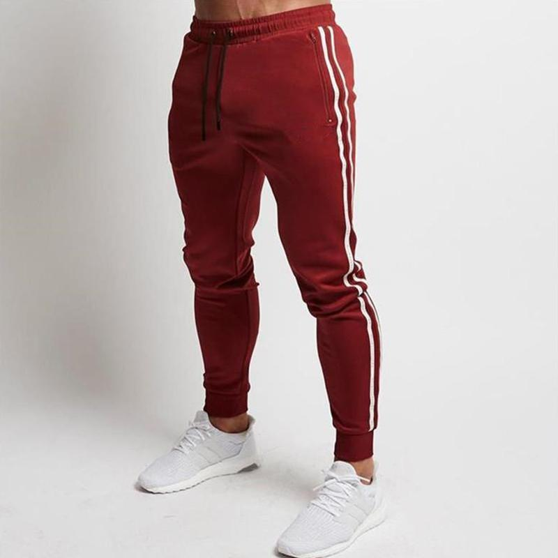 Sports Side Stripe Drawstring Waist Sweat Pants