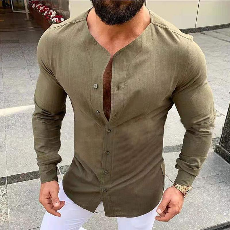 Vintage Solid Long Sleeve Shirt