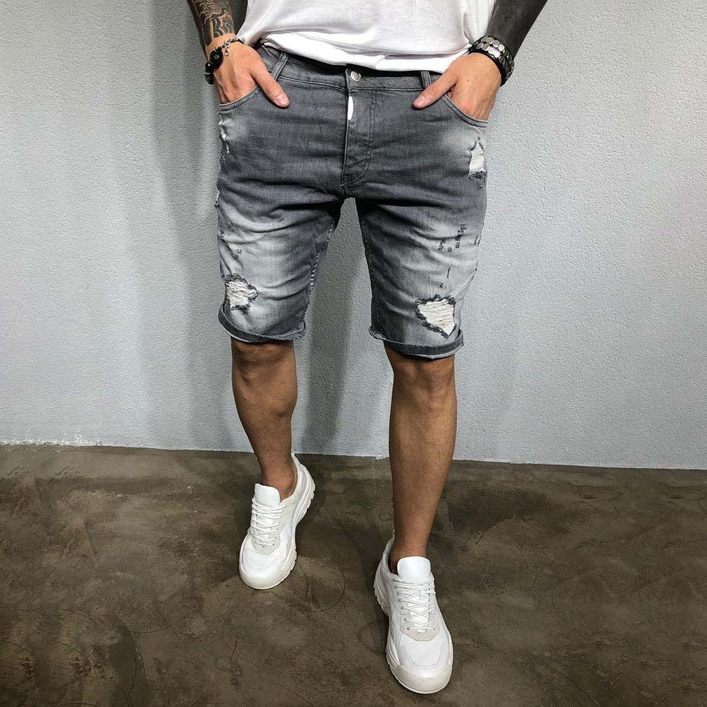 Ripped Holes Denim Shorts Jeans