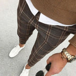 Vintage Plaid Print Pants