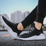 Sports Knitted Lace Up Sneaker