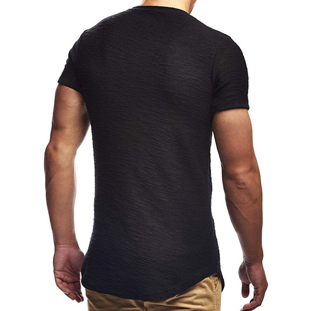 Basic Solid Short Sleeve T Shirt Tee