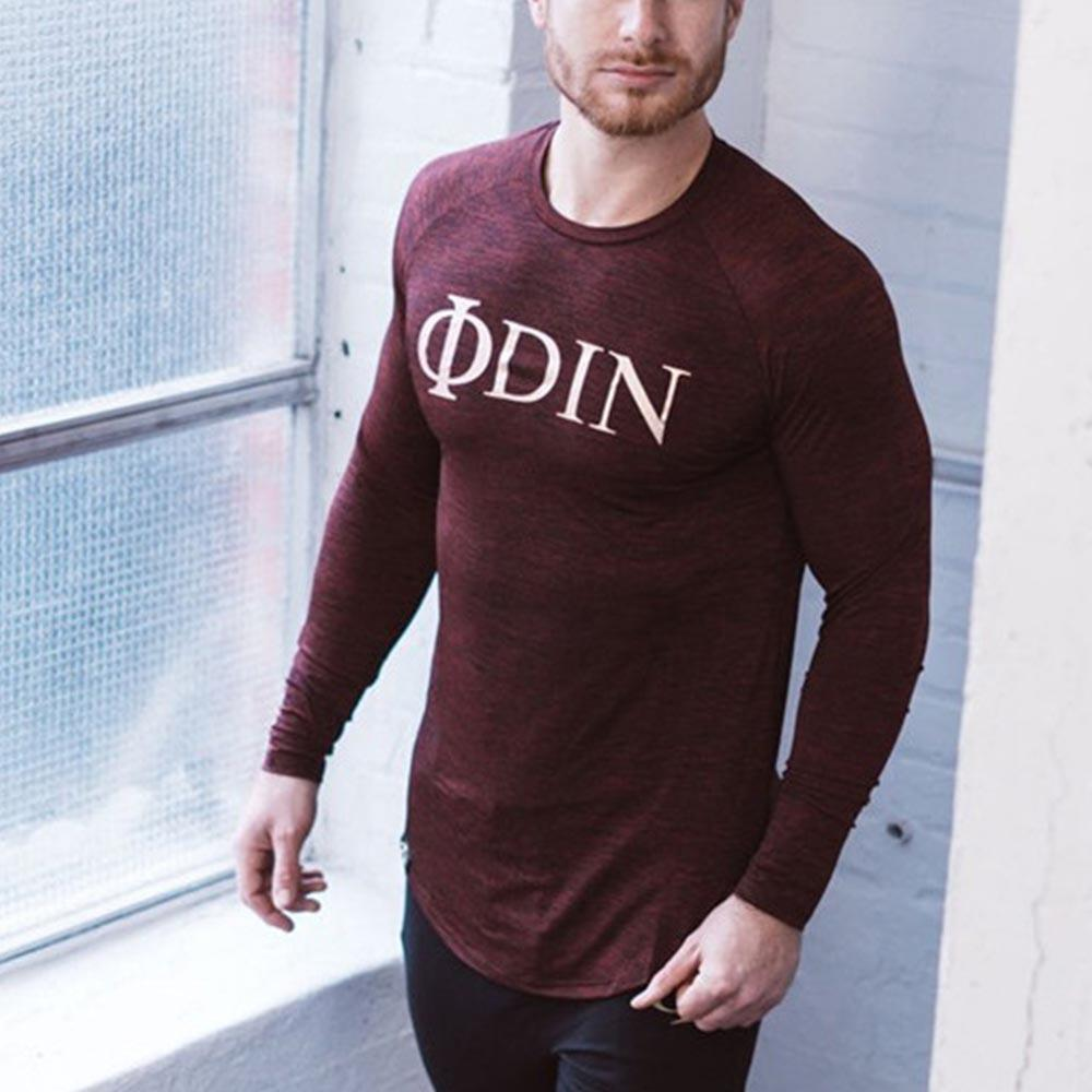 Sport Letter Back Stitching Long Sleeve T Shirt