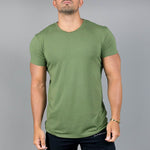 Casual Solid Short Sleeve T Shirt