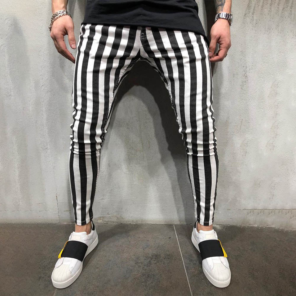 Casual Print Paneled Side Pockets Pants