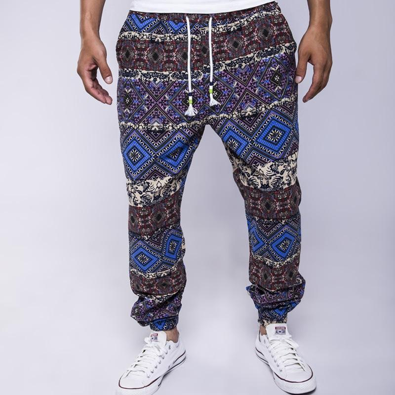 Ethnic Printed Drawstring Waist Pants