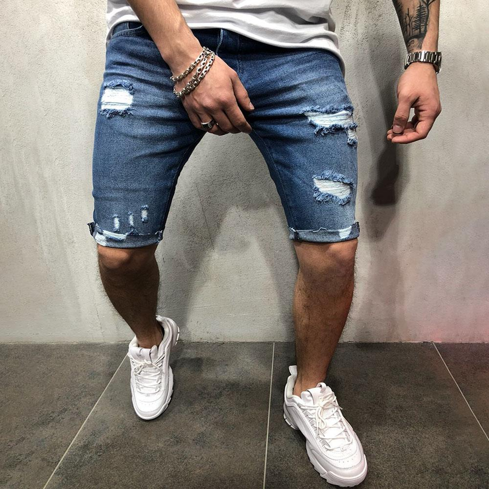 Ripped Holes Denim Pants Jeans Shorts
