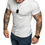 Sports Solid Short Sleeve Tee T Shirt