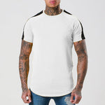 Shoulder Colorblock Short Sleeve T Shirt Tee