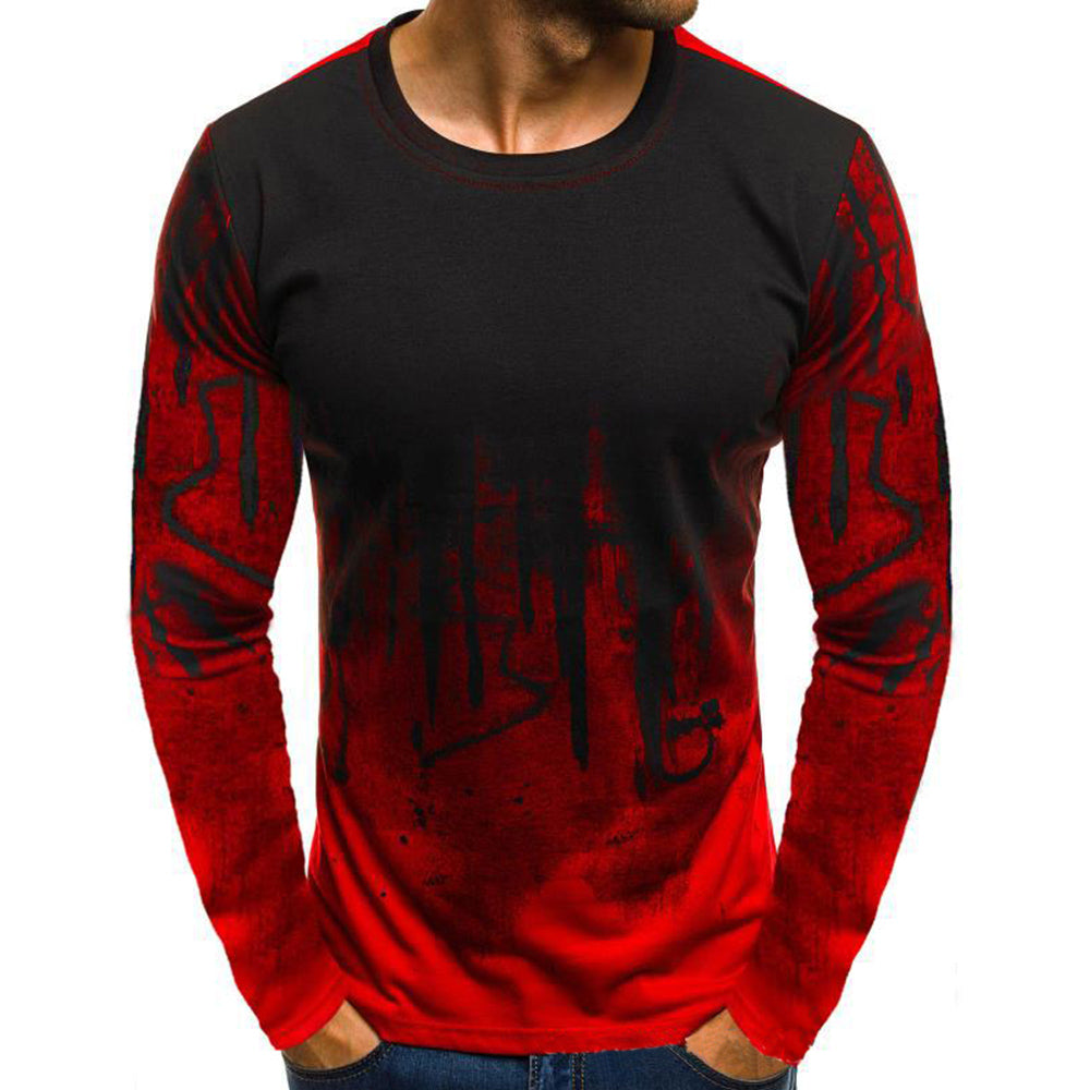 Gradient Splash Ink Long Sleeve T-shirt