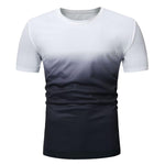 Casual Gradient Short Sleeve Tee Shirt