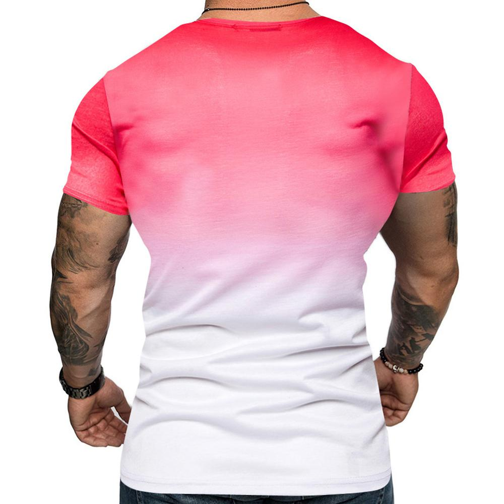 Casual Gradient Short Sleeve Tee T Shirt