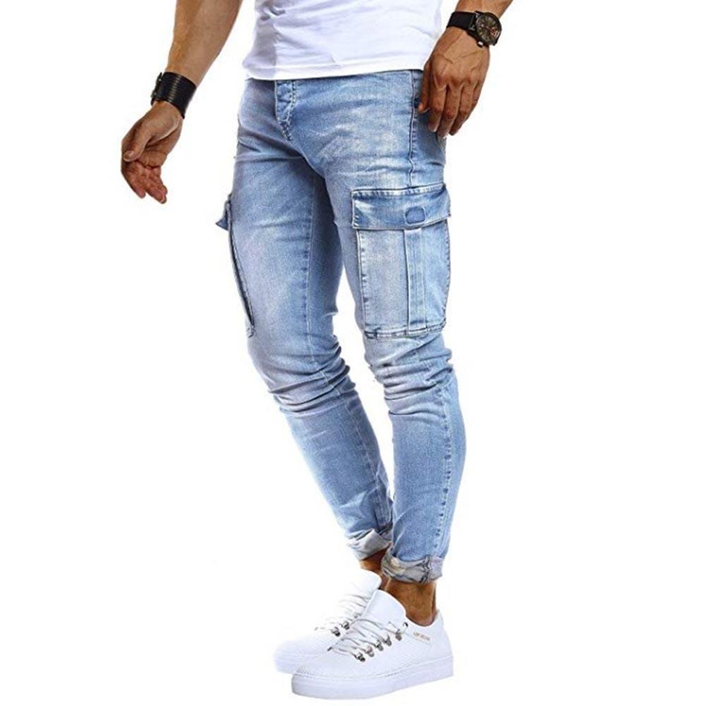 Side Pocket Denim Pants Jeans