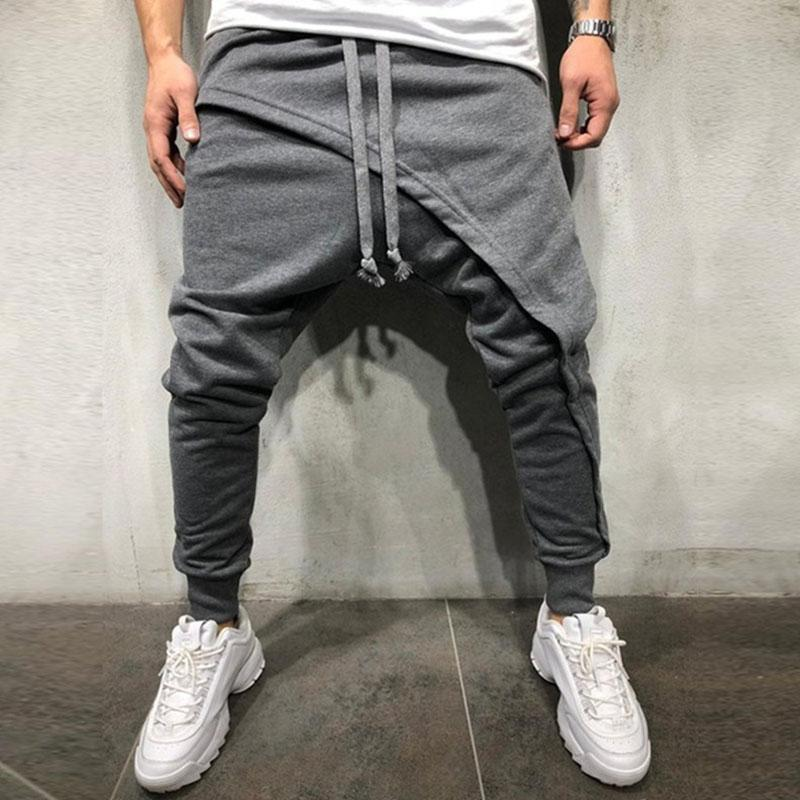 Casual Layered Drawstring Sports Running Sweat Pants