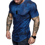 Tie-dye Short Sleeve Sports Gym T-shirt