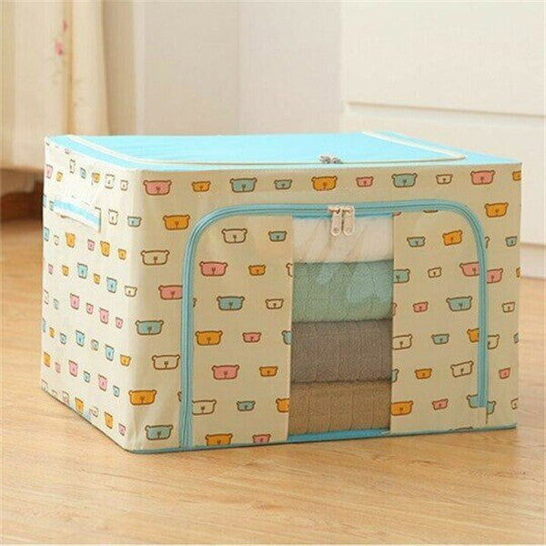 Oxford Cloth Foldables Steel Frame Storage Box