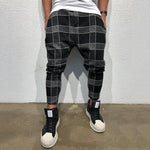 Vintage Grid Printed Pants
