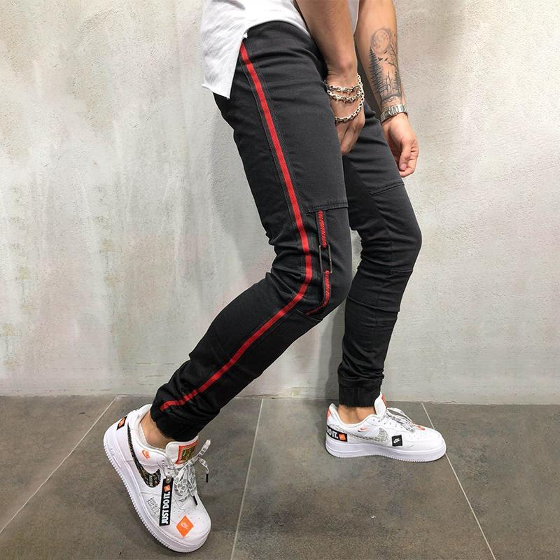 Casual Braid Stitching Jeans