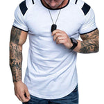 Colorblock Sports Short Sleeve T Shirt