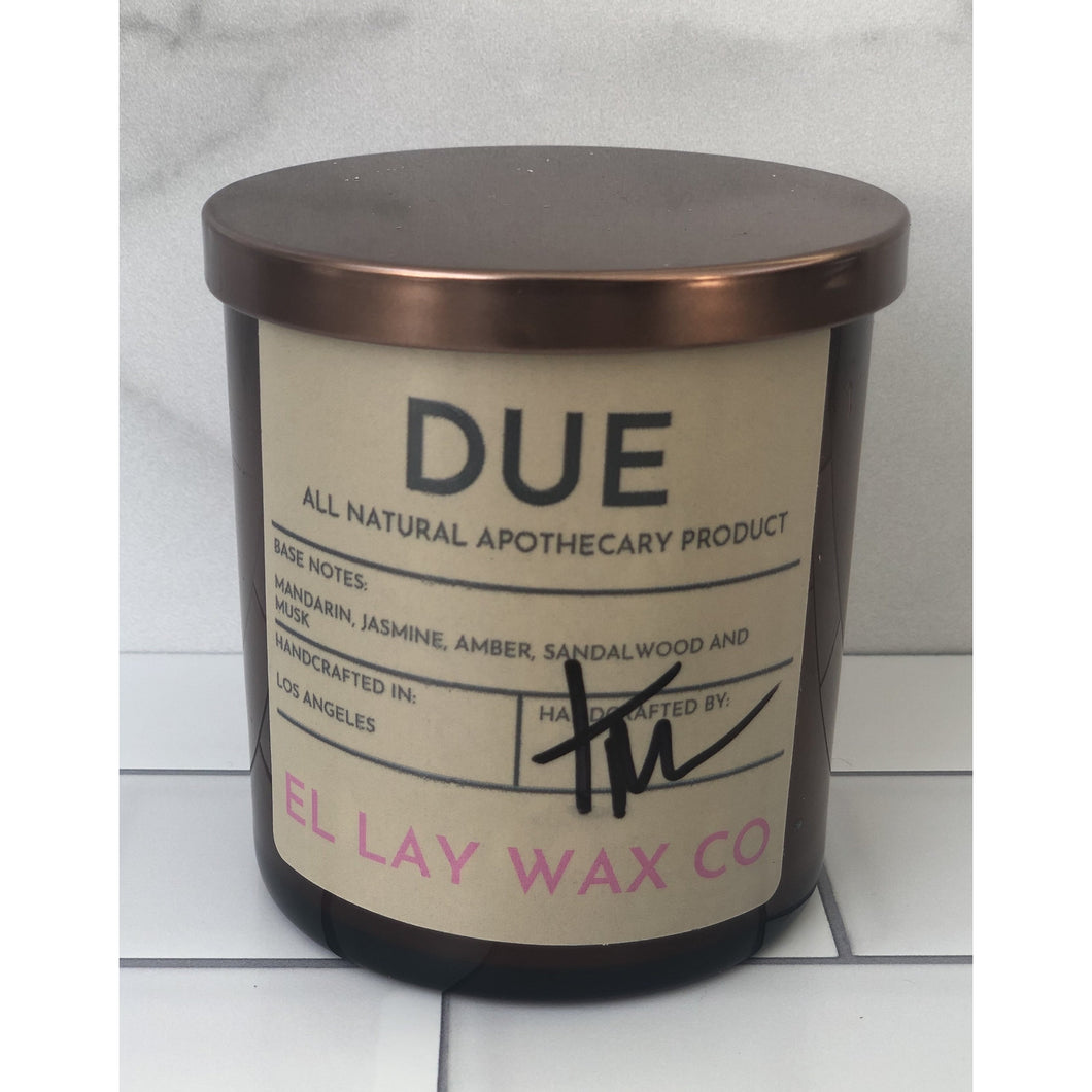 DUE 12 oz Jar Soy Candle