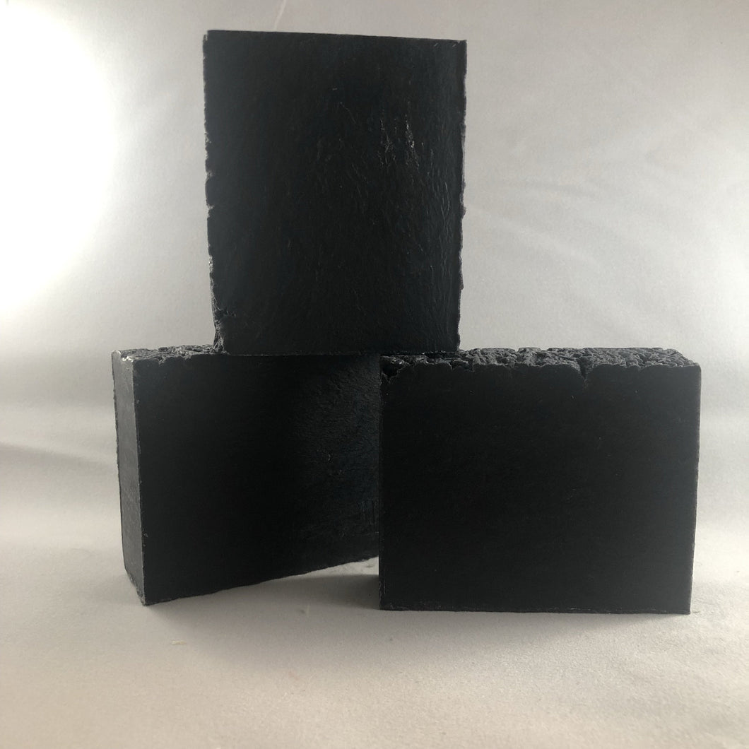 Peppermint Tea Tree with Activated Charcoal (Vegan, 83% Organic,  All Natural) Bar Soap