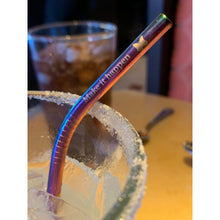 "Load image into Gallery viewer, ""Make it Happen"" Straws Rainbow Color"