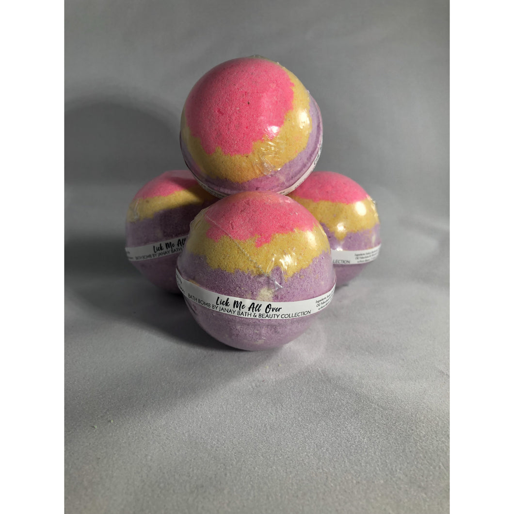Lick Me All Over 4.5 oz Bath Bomb