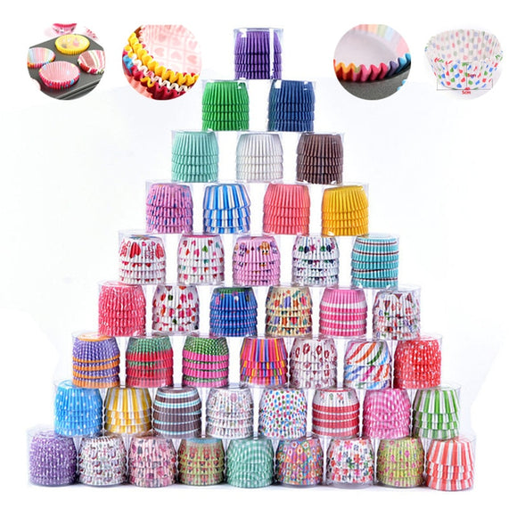 100PCS/Set Muffin Cupcake Paper Cups