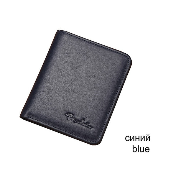 Purse For Men Genuine Leather Men's Wallets Thin Male Wallet Card Holder