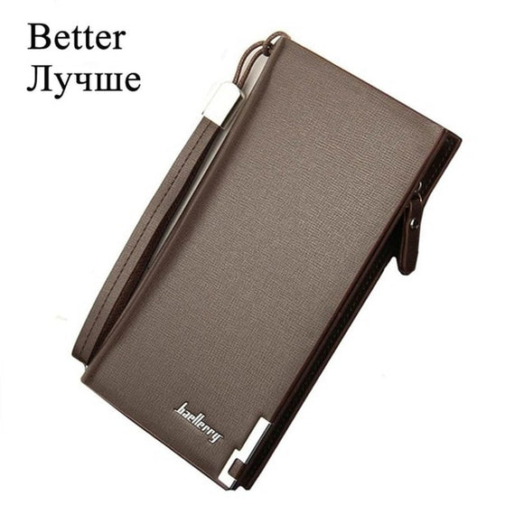 Men Wallets Classic Long Style Card Holder Male Purse Quality Zipper Large
