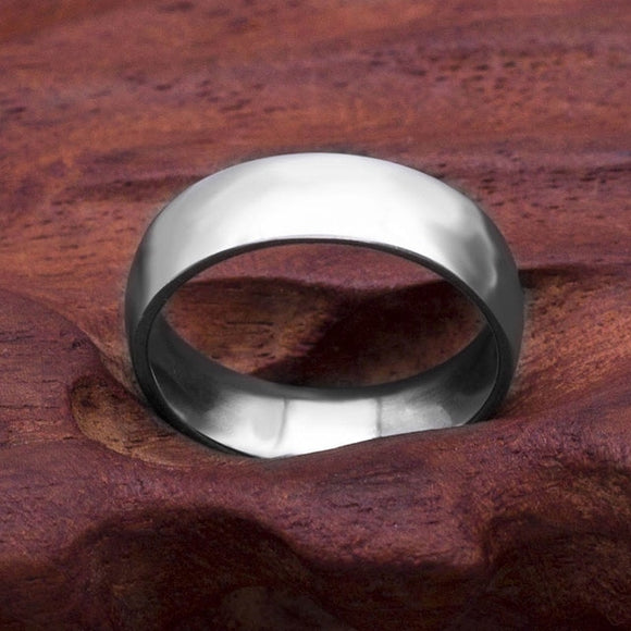 Fashion Simple Matt 316L Stainless Steel Rings for Women