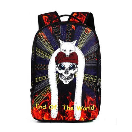 Fashion Sprayground Men Women's Backpack Skull Travel Backpack Mochila Children School Bags For Teenagers