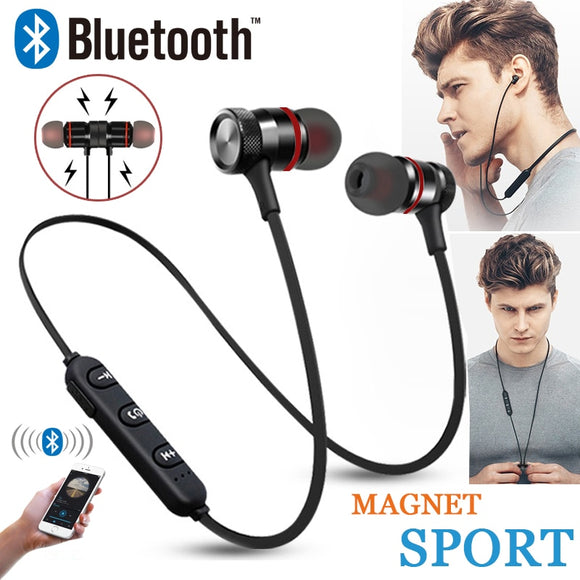 GZ05 Bluetooth Headset Wireless Headset Stereo Headphones Sports Magnetic Earphones with Microphone for All Mobile Phones