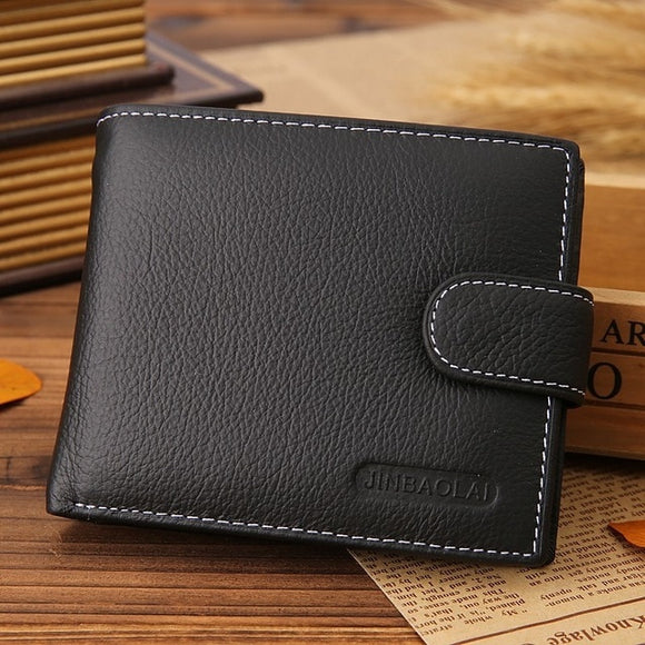 Leather Wallet Men Wallet Casual  With Coin Pocket Purses