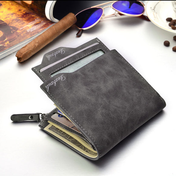 Wallet Men Soft Leather wallet with removable card slots multi function men wallet purse male clutch top quality !
