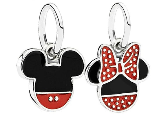 Disney baby fence Mickey mouse DIY Pendant Bracelet Accessories necklace DIY Cartoon jewelry bag Pendant girl gift Keychain