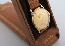 Load image into Gallery viewer, OMEGA 9 Carat Gold Calibre 265 Sub Second (1950)