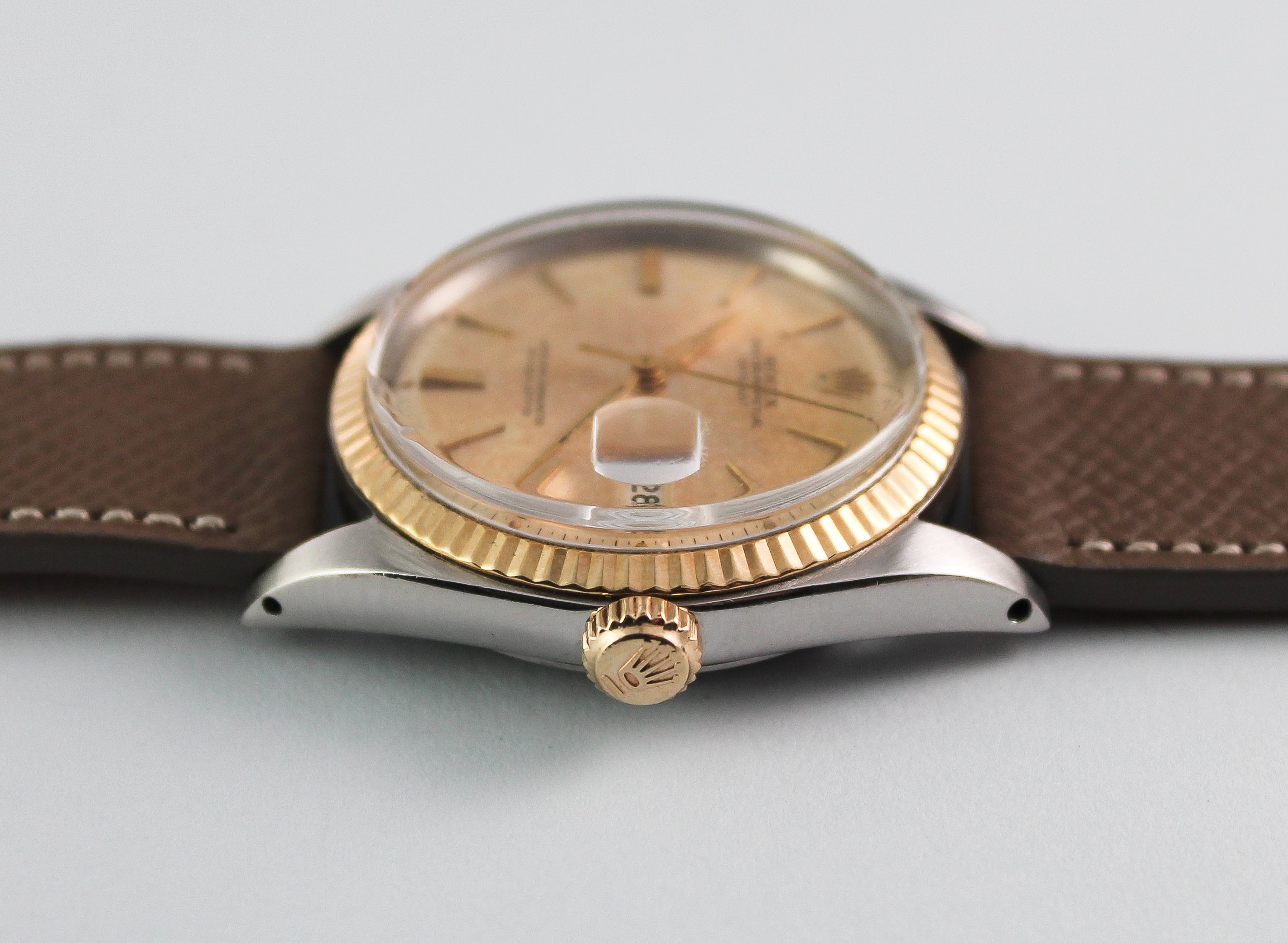 "Rolex Two Tone Datejust ""Door Stop"" Dial Ref 1601 (1964)"