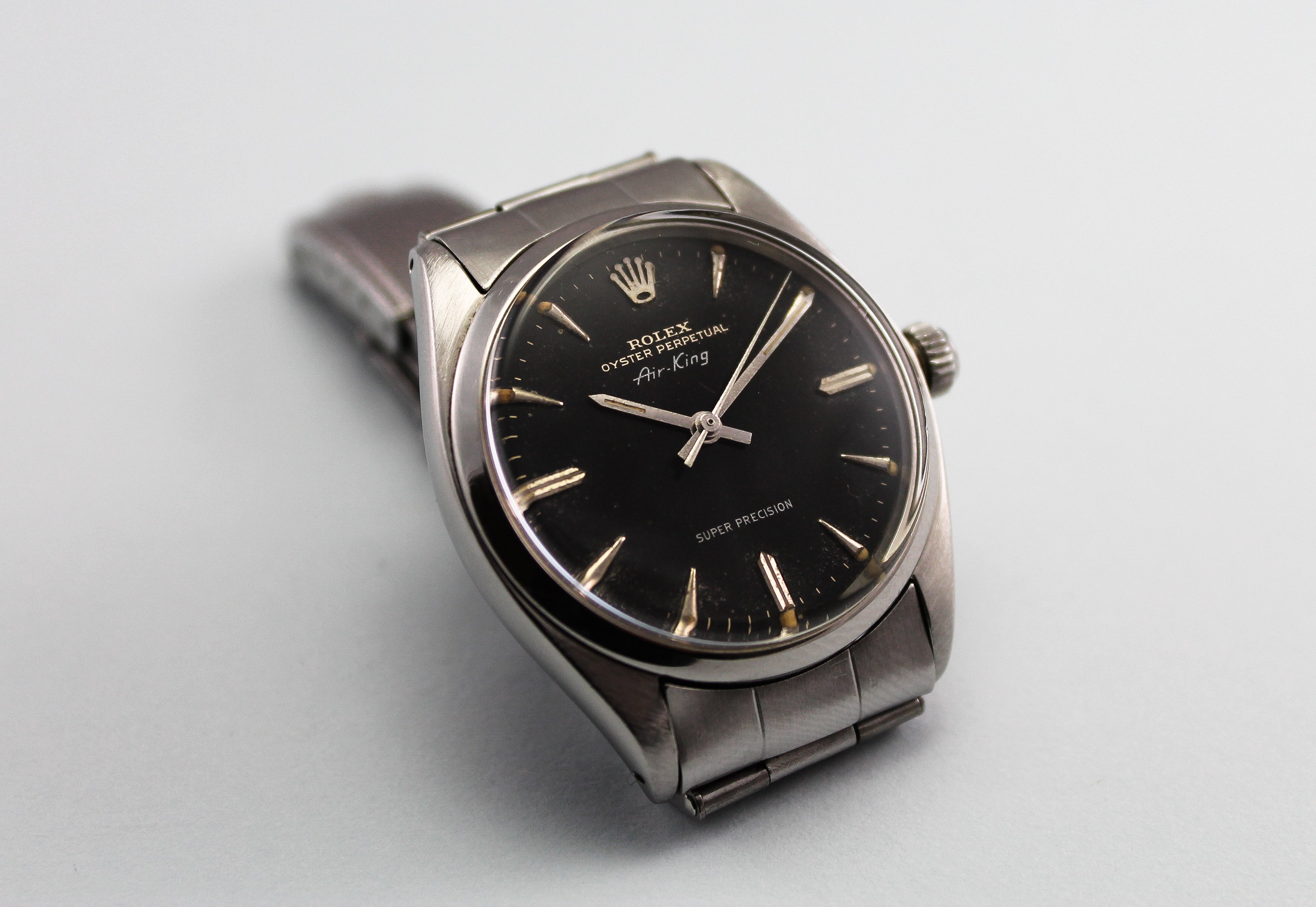 ROLEX Air King Super Precision Swiss only Gilt dial ref 5500 (1961)
