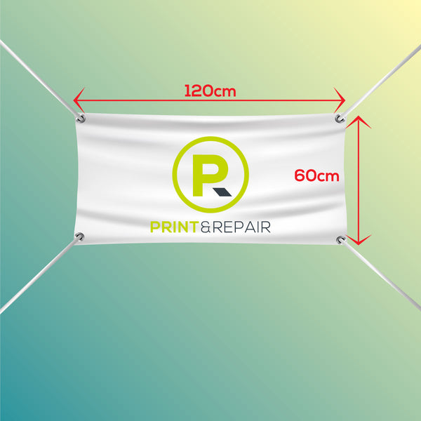 Banner with Eyelets - 120cm by 60cm