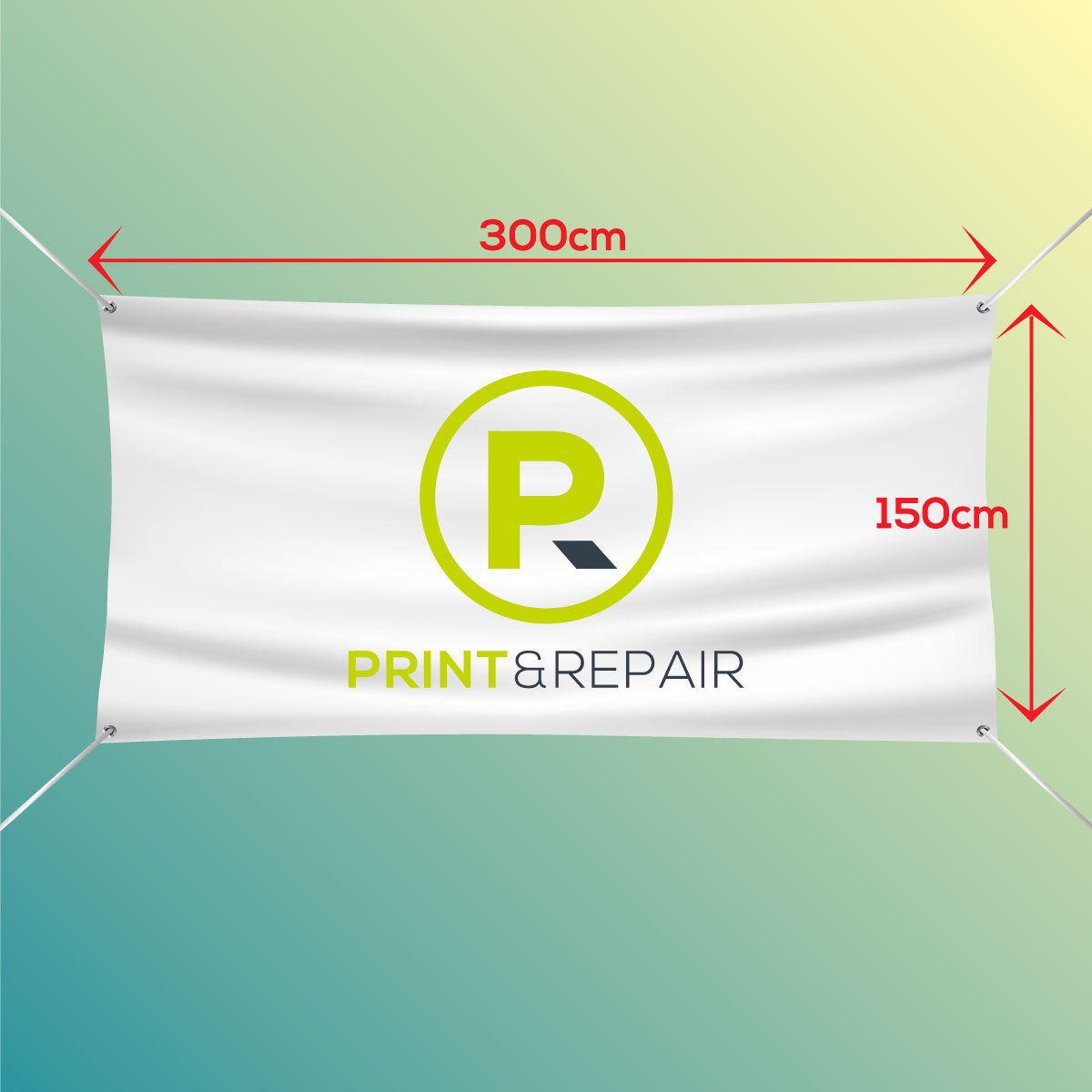 Banner with Eyelets - 300cm by 150cm