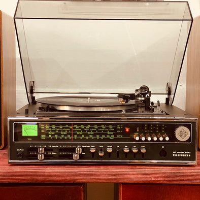 Vinyl Player (with Amp and Speakers) - hifi audio system - Telefunken 4040 (SHURE)