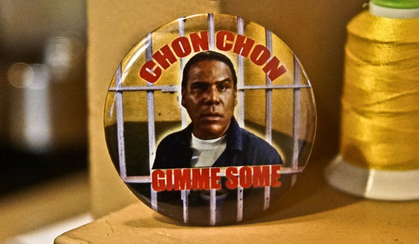 "Popeye Gimme Some Chon Chon Blood In Blood Out 2.25"" Pinback Button"